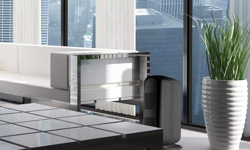 Purificador de aire en la oficina